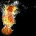 Heat Flux Fire Simulation