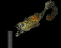Simulation of an industrial flare - sulfer